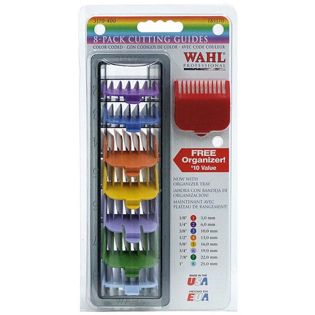 Набор пластиковых насадок Wahl 3170-417, 8шт (цветные)